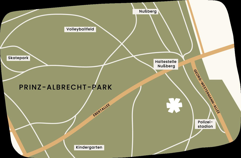 Standort für Yoga im Park